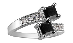 Black and White Sapphire Ring