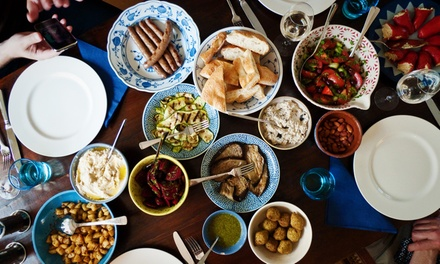 Meze Banquet with Optional Wine for Two or Four at Zara's Mediterranean Bistro