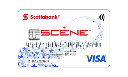 Get $50 Groupon Bucks Upon Approval of a Scotiabank SCENE VISA Card