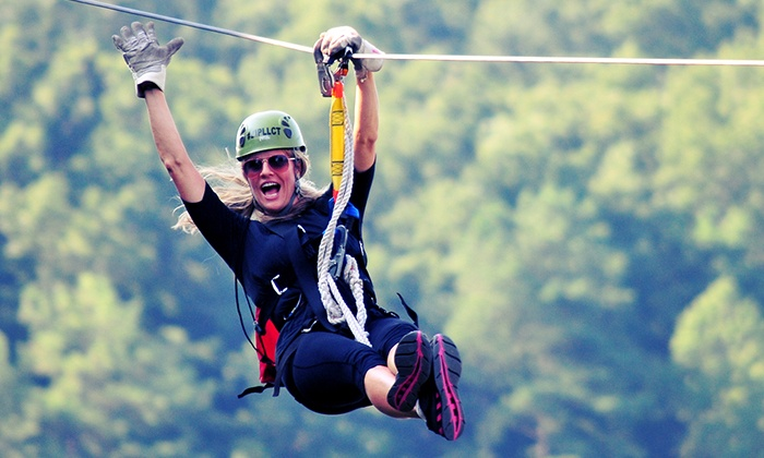 Lake Lanier Canopy Tours  - Buford: $108 for a Haunted Zipline Tour for Two with Two T-Shirts from Lake Lanier Canopy Tours ($200 Value)