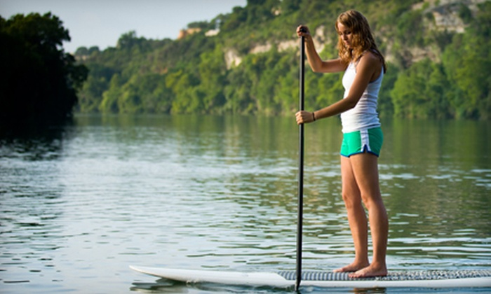 Hamptons Paddleboard - East End: One, Three, or Five Standup-Paddleboard Yoga Classes from Hamptons Paddleboard (Up to 70% Off)