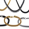 Men's Franco Necklace and Bracelet Sets in Stainless Steel