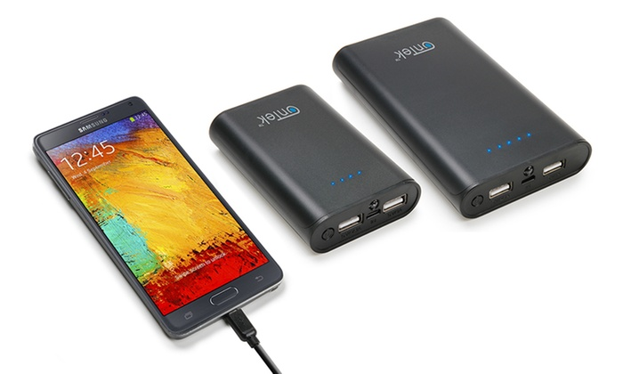 OnTek Portable Battery Pack Chargers for Tablets and Smartphones: Ontek Universal Portable Battery Pack Chargers with 2 USB Ports for Tablets and Smartphones