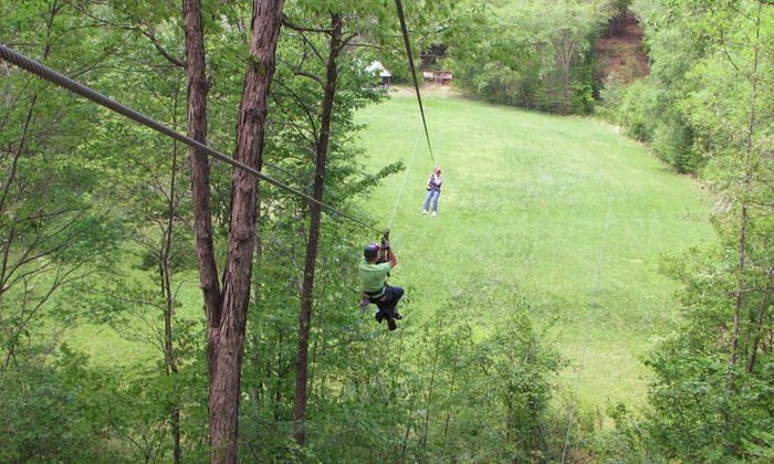 Carolina Ziplines Canopy Tour - Near Hanging Rock State Park: $45 for a Two-Hour Standard Day Tour or Night Lantern Tour (Up to 50% Value)