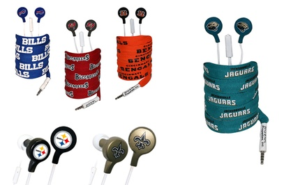 NFL Shoelace Earbuds. Multiple Teams Available.
