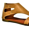 Mata Women's Faux Leather Rustic Washed Sandals (Size 8.5)