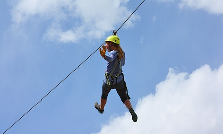 Admission for 1, 2, 4, or 6 to the Zipline Adventure Park at Yellowstone Aerial Adventures (Up to 56% Off)