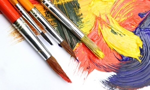 Wine and Paint Parties: $17 for One Art Class from Wine and Paint Parties (Up to $35 Value)