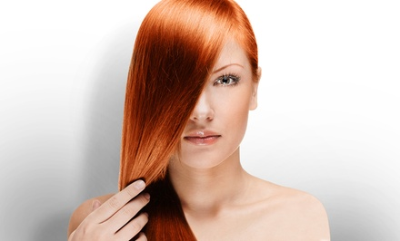 Keratin Treatment or Haircut Package from Sara Nohemy at Marina's (Up to 59% Off)