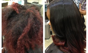 Styled by LaMeeka: Up to 53% Off Silk-Press Hair Packages at Styled by LaMeeka