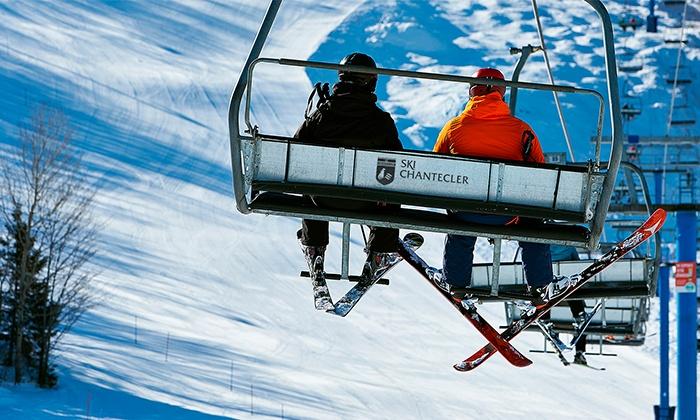 Ski Chantecler  - Ski Chantecler : Ski Day Ticket with Equipment Rental at Ski Chantecler (Up to 55%)
