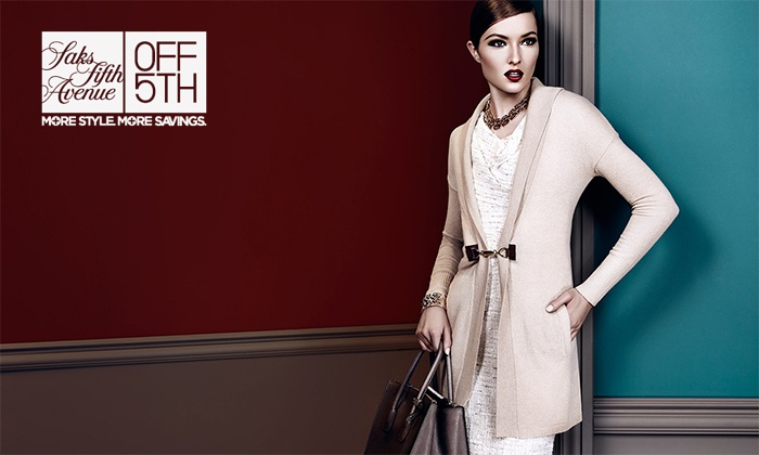 Saks Fifth Avenue OFF 5TH - Orange: $20 for $40 Worth of Designer Apparel at Saks Fifth Avenue OFF 5TH Stores and Online