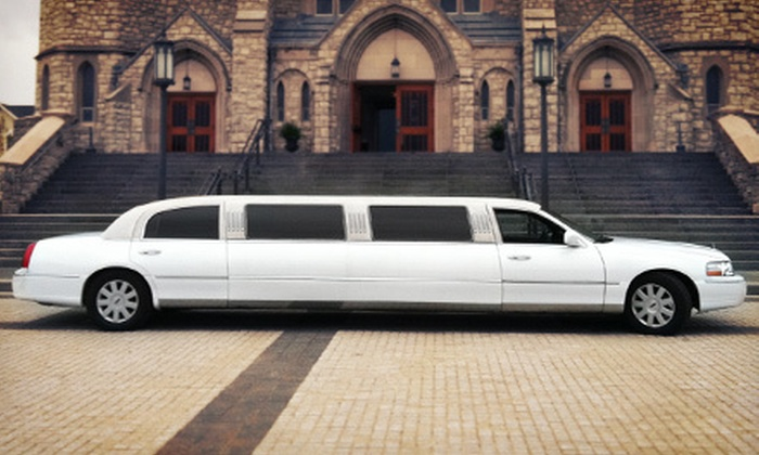 First Class Limousine - Union: Four-Hour Stretch-Limo Ride for 10 or 20 from First Class Limousine (Up to 51% Off)
