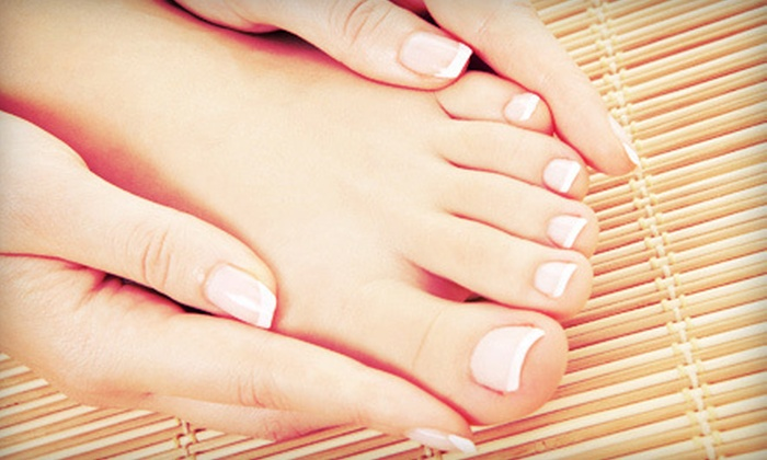 The Green Bath & Beauty Company - Kingston: Spa or Dry Shellac Mani-Pedi, or Two Shellac Manicures or Pedicures at The Green Bath & Beauty Company (Up to 53% Off)