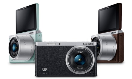 Samsung NX Mini 20.5MP CMOS Smart WiFi Mirrorless Digital Camera with 9-27mm Lens (Refurbished)