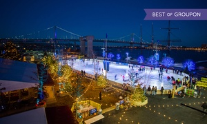 Blue Cross RiverRink Winterfest: Ice Skating with Rental Skates for Two or Four at Blue Cross RiverRink Winterfest (Half Off). Four Options Available.