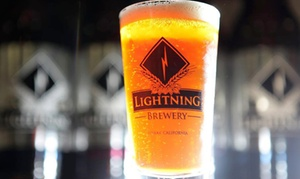 Lightning Brewery: Beer-Tasting Package for Two or Four with Tasting and Optional T-Shirt at Lightning Brewery (43% Off)