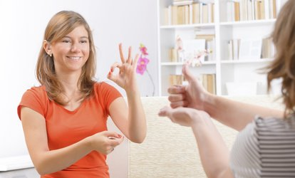 $9 for an Online American Sign Language Course from International Open Academy ($299 Value)