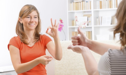 $19 for an Online American Sign Language Course from International Open Academy ($299 Value)