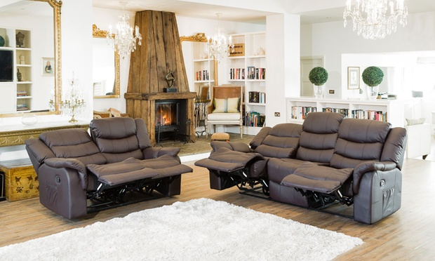 Carmona 3 2 Leather Recliners Groupon Goods