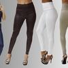 OhConcept Women's Faux-Leather Leggings