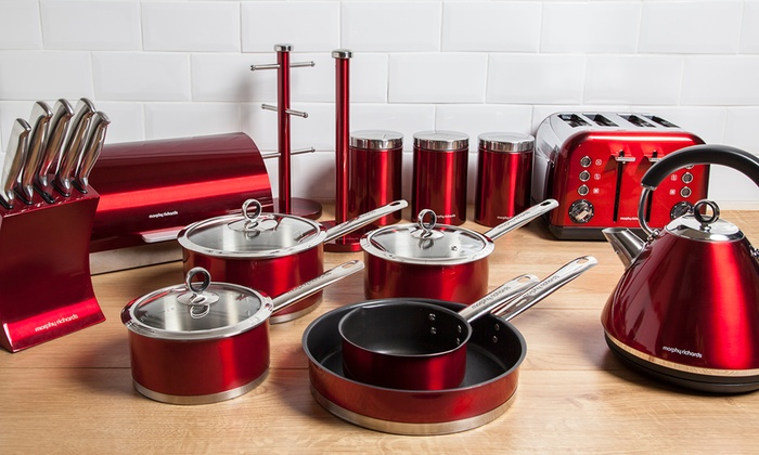 Good Groupon Goods Global GmbH: Morphy Richards Accents Complete Kitchen Set In  Choice Of Colour For ...