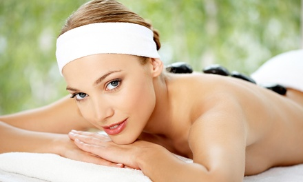 60- or 90-Minute Hot Stone Massage at Hairport Hair Studio And Spa (Up to 46% Off)