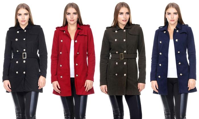 Women's Military Trench Coat | Groupon Goods