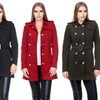 Women's Military Double Breasted Trench Coat