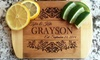 "American Laser Crafts: One or Two Personalized 6""x8"" Bamboo Cutting Boards from American Laser Crafts (Up to 53% Off)"