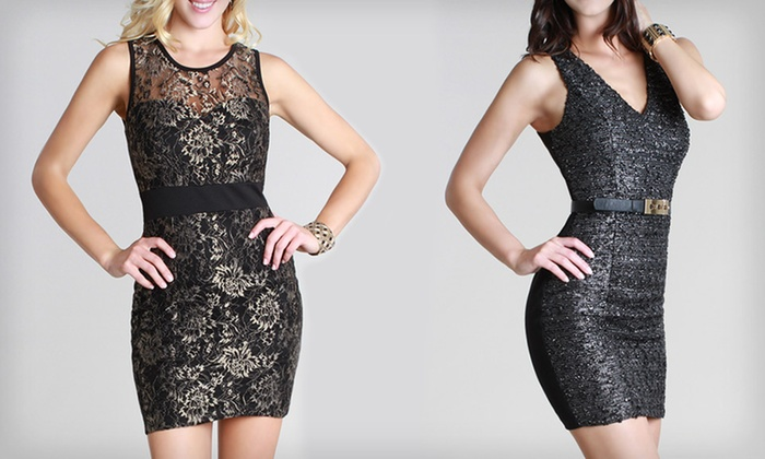 Black with Gold Embellished Dresses: $39 for Nikibiki Metallic Dress (Up to $119 List Price). Multiple Styles and Sizes Available. Free Shipping and Returns.