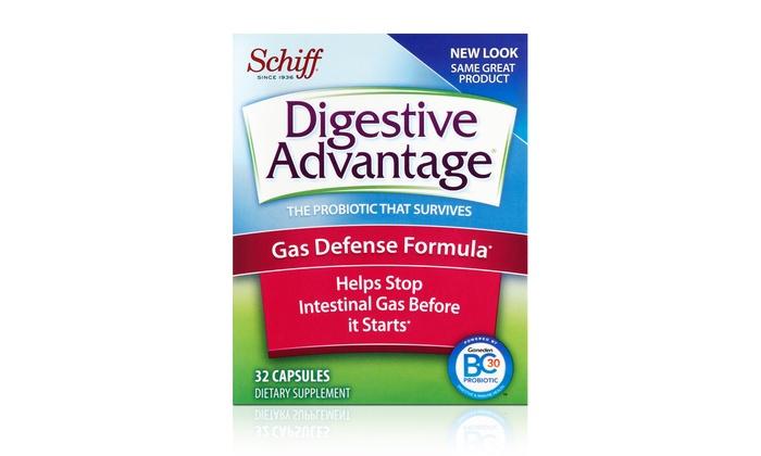 Digestive Advantage Gas Defense Formula (4-Pack): Digestive Advantage Gas Defense Formula; 4-Pack of 32 Ct. Bottles + 5% Back in Groupon Bucks