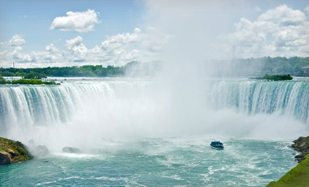 1-Night Stay with $30 Casino Credit and a Bottle of Wine at Four Points by Sheraton Niagara Falls in Niagara Falls, NY