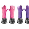 3 Pairs of Leopard Cleaning Gloves