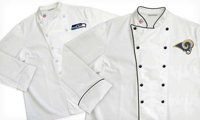 NFL NFC West Classic or Premium Chef Coats: NFL NFC West Classic or Premium Chef Coats (Up to 64% Off). Multiple Teams Available. Free Shipping and Returns.