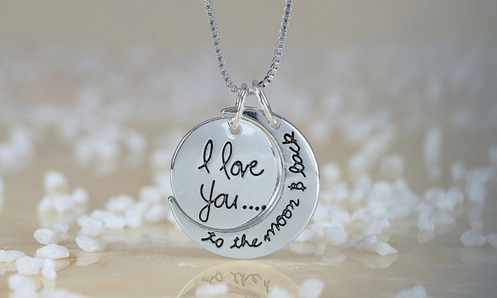 Monogram Hub: One, Two, or Three I Love You to the Moon and Back Necklaces from MonogramHub (Up to 85% Off)