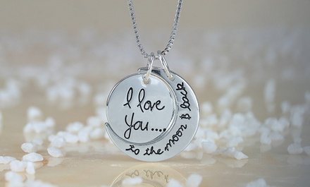 $5 for an I Love You to The Moon & Back Necklace from Monogramhub.com ($44.99 Value)