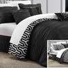 7-Piece Alexis Ruched Reversible Comforter Sets