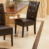Set of 2 Bonded Leather Haynes Dining Chairs