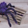 """50""""Posable Hairy Spider (Purple)"""