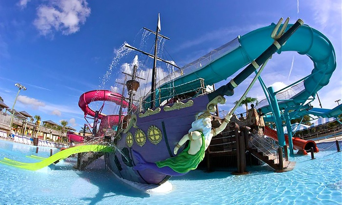 Waterpark Admission Jacksonville Beach Shipwreck Island