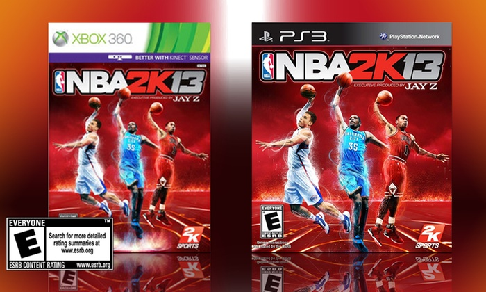 NBA 2K13 for PS3 or Xbox 360: $19.99 for NBA 2K13 for PS3 or Xbox 360 ($32 List Price). Free Shipping.