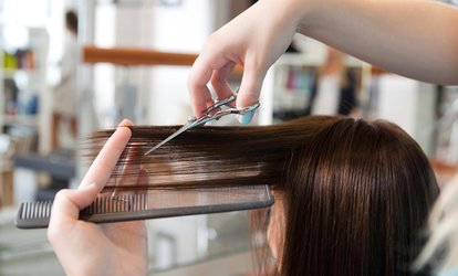 image for Haircut and Infrared Keratin Treatment Package with Optional Root Colouring at Salon Chez Stéphane (Up to 73% Off)