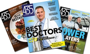 "12, 24, Or 36 Issues Of ""435 Magazine"" (50% Off)"