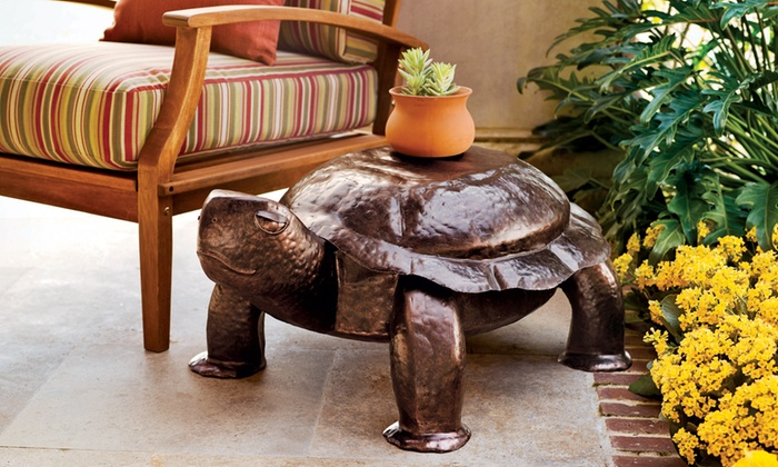 Superieur Hand Hammered Turtle Side Table