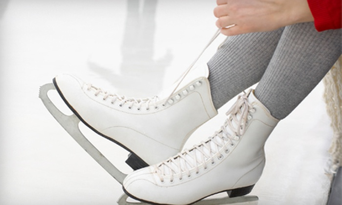Richmond Ice Zone - Clover Hill: Ice Skating for Two or Four with Skate Rental at Richmond Ice Zone (Up to 57% Off)