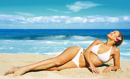 Mobile Airbrush Tanning from Sun on The Run Airbrush Tanning (Up to 75% Off). Four Options Available.