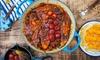 Menu persiano con dolce e vino