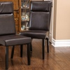 Thiago Brown Leather Padded Dining Chairs (Set of 2)
