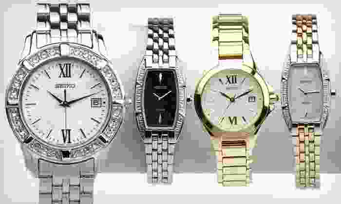 Seiko Women's Watches: Seiko Women's Watches (Up to 83% Off). Six Options Available. Free Shipping.